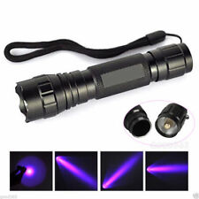 UV WF-501B LED 365NM Ultra Violet Blacklight Flashlight Torch 18650Lighting50mHC