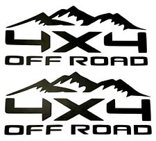 2 NEW 4X4 OFF ROAD DECAL STICKER 4WD TRUCK FORD F150 CHEVY SILVERADO DODGE RAM