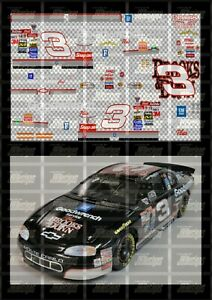 NASCAR 1/24 DECALS DE02 - DALE EARNHARDT 1998 CUP #3 GOODWRENCH - BROOKS & DUNN