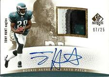 Tony Hunt 2007 SP Authentic Gold Autograph Game Jersey Patch Rookie #07/25
