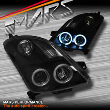 Black CCFL Angel Eyes Projector Head Lights for Suzuki Swift 04-06 07-10 & Sport