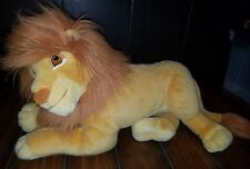 MATTEL VINTAGE PLUSH LION KING ADULT SIMBA BIG LARGE HUGE 1990's DISNEY RARE :A