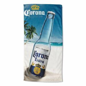 Corona Extra Beer New Beach Bath Pool Gift Towel Cerveza Empty Bottle Label SOFT