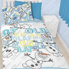 Disney Frozen 100 Official Olaf Snowman Im Cool Single Bed Duvet Cover Set