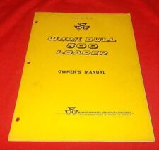 Massey Ferguson  303 Work Bull Tractor w/ 500 Loader  Owner's Manual