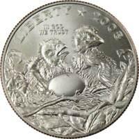 2008 S 50c Bald Eagle Commemorative Half Dollar US Coin Choice Uncirculated
