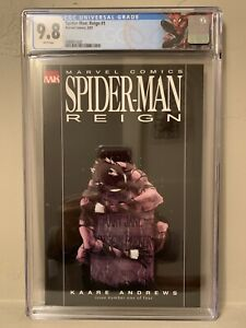 Marvel Spider-Man Reign #1 CGC 9.8 NM/M Black Costume Recalled Nude Panel