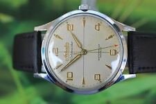 GREAT VINTAGE BIG MEN'S SWISS ADRIATICA WOLDMASTER SUPER DE LUX WATCH 21 JEWELS!