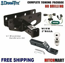 """FITS 2007-2017 JEEP WRANGLER CLASS 3, TRAILER HITCH  PACKAGE w 2"""" BALL  75515"""