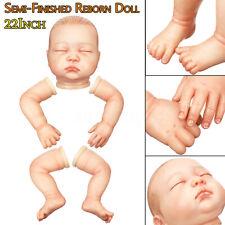 22'' Rarement Silicone Vinyl Reborn Baby Toddler Doll Kits Accessoires no  +A