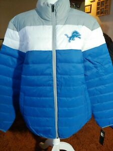 NFL Size 2xl Detroit Lions Polyquilt Puffy Jacket Coat 2XL