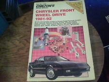 Chilton's Repair Manual Chrysler Front Wheel Drive 1981-92  s13