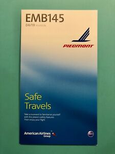PIEDMONT AIRLINES/ AMERICAN SAFETY CARD--EMB140/145