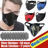 Outdoor Reusable Air Purifying Face Filter Mask Face Cover Haze Fog Mouth Mask