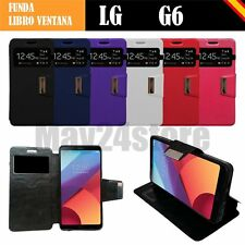 Funda soporte libro ventana LG G6 H870 + protector completo