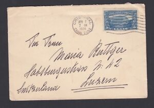 USA CANAL ZONE 1936 COVER CRISTOBAL TO LUCERNE SWITZERLAND