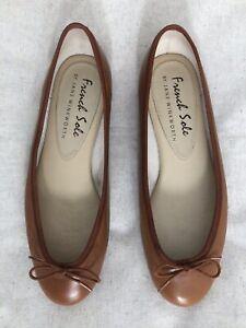 NWOT FRENCH SOLE 'Henrietta' Ballet Flats Size UK 5 EUR 38 Tan Ballerinas Shoes