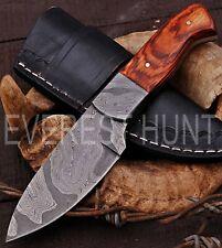 EVEREST HUNT CUSTOM HANDMADE DAMASCUS STEEL HUNTING CAMP SKINNER KNIFE B4-2077