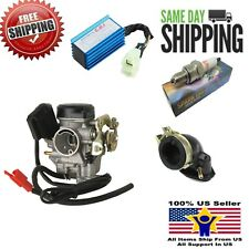 NEW 49cc 50cc GY6 ATV MOPED SCOOTER CARBURETOR & MANIFOLD & RACING CDI KIT 20mm