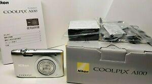 [Exc+3] Nikon COOLPIX A100 CCD Sensor Compact Digital Camera w/ Box from Japan