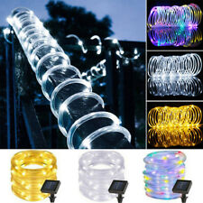 7M 12M Solar Powered LED Strip Rope Lights Fairy String Light Xmas Outdoor Light