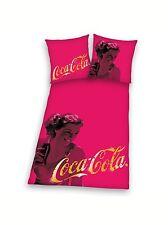 BETTWÄSCHE  Coca Cola Pin up Girl pink  135/200 neu