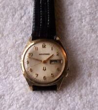 Vintage Bulova Accutron Watch N-0 1970 14K Gold Filled Case