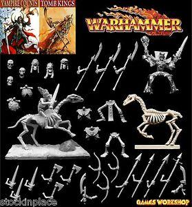GAMES WORKSHOP Warhammer VAMPIRE COUNTS / TOMB KING BITZ 28mm Scale Undead Bits