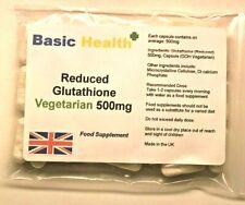 GLUTATHIONE x120 Capsules 500mg Reduced Vegetarian Antioxidant Immune Whitening