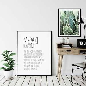 Meraki Funny Definition Print, Definition Printable Wall Art Gift, Funny Print