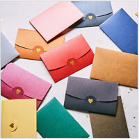 20pcs Mini Colorful Pearlescent Paper Blank  Envelope For Wedding Invitation