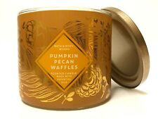 1 BATH & BODY WORKS PUMPKIN PECAN WAFFLES SCENTED 3-WICK LARGE 14.5 OZ CANDLE