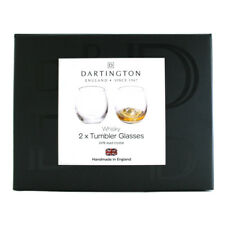Dartington Crystal Whisky Tumbler Glasses (Pair) NEW