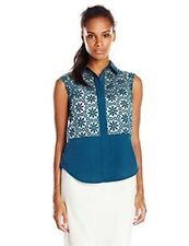 Anne Klein Sleeveless Top Lace Med Green 16