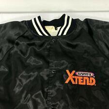 Vintage Wynns Xtend Oil Black Satin Baseball Jacket 2Xl