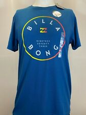 "New Billabong ""2-Color Logo"" Men's Short Sleeve T-Shirt, Mult Colors, L, Slim"