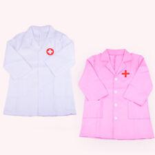Girls Kids Childrens Doctors Nurse Coat Uniform Fancy Dress Costume Outfit