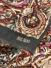 Vintage 1980s Scarf Bill Blass Oblong Edwardian Design Soft Medley of Colors