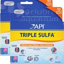 Triple Sulfa Powder Aquarium Anti-Bacterial Fish Disease Treatment API 2 Pack