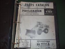 International Hough H 100 B Payloader Wheel Loader Parts Op Maintenance Manuals