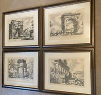 Vintage Giovanni Battista Piranesi Rome In Ruins Framed Etching Prints Lot Of 4