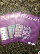 Jamberry Nail Wraps - Lot #1 of Four Full Sheets ~ Glitz, Quilted, Almond Hombre
