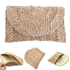 Vintage Boho Women Clutch Braided Handbag Summer Beach Bag Fashion Straw Knitted