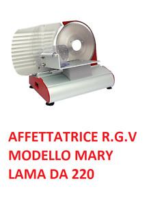 Affettatrice RGV Mary 220, Lama Alluminio Diam. 220mm Colore Rosso e Silver 200W