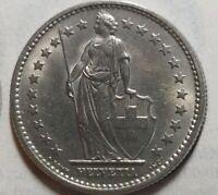 Switzerland, 2 Francs, 1968, Bern, UNC Copper-nickel, KM:21a.1