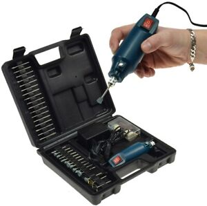 Mini Bohrmaschine Drill-Power V2 12V 12.000 U/min 63 teilig Werkzeug Schleifer