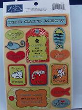 NEW KAREN FOSTER DESIGN STICKERS CATS MEOW 10573  928