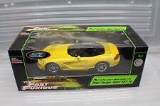 1-18 2Fast & 2Furious 2003 RcErtl Dodge Viper SRT-10 Yellow #36973 new old stock