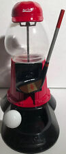 Golf Theme Candy Gumball Dispenser Machine Metal Glass Complete Works 5004R