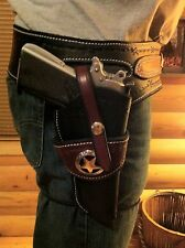 Western Leather Gun Holster& Belt For Semi Auto  CUSTOM BUILT TO YOU